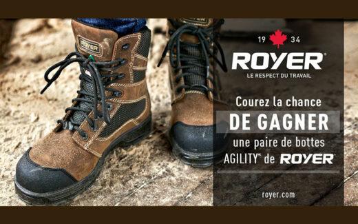 Une paire de bottes AGILITY de ROYER