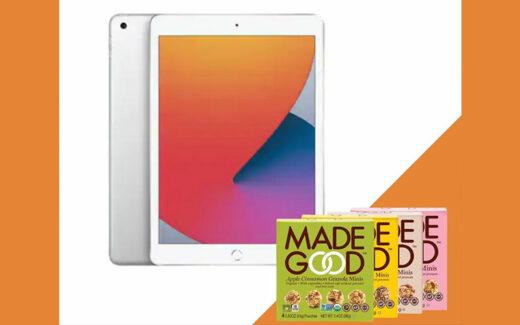 """Un iPad 10.2"""" (2020) 128GB- Wi-Fi + 9 produits MadeGood"""