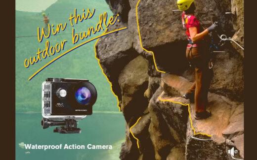 Une Caméra d'action imperméable