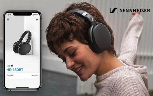 Une paire d'écouteurs 450BT de Sennheiser