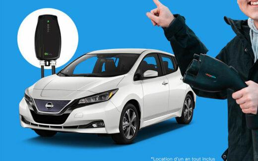 Une voiture électrique Nissan Leaf pour 1 AN (10 000 $)