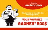 6 cartes-cadeaux Metro de 500 $