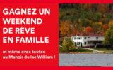 Un weekend en famille au Manoir du Lac William