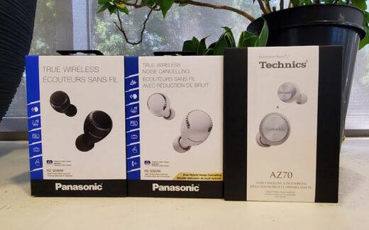 Des écouteurs intra-auriculaires sans fil Panasonic et Technics