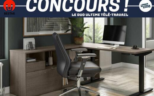 Un bureau assis-debout électrique + Une chaise (2000 $)