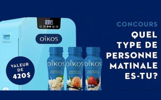 Un frigo portatif + 10 coupons Oikos