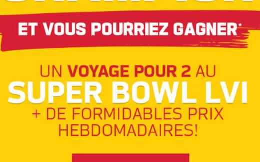 Un voyage pour 2 au Super Bowl LVI (10 000 $)