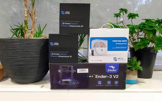 Une imprimante 3D Ender-3 V2 de Creality