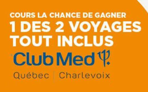 2 voyages tout inclus au nouveau Club Med de Charlevoix
