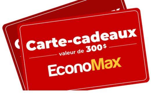 3 cartes-cadeaux EconoMax de 300 $