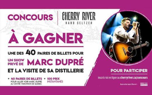 40 paires de billets pour le spectacle de Marc Dupré (7200 $)