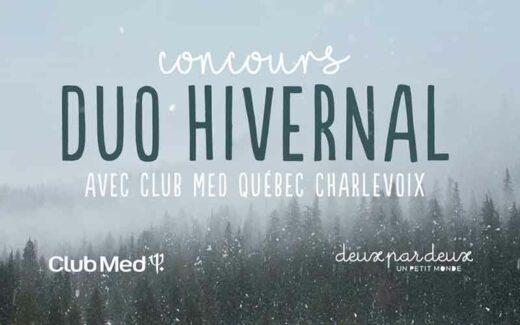 Un séjour au Club Med Québec Charlevoix (4000 $)