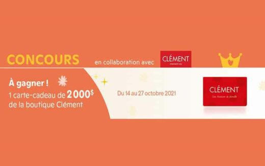 Une carte-cadeau Clément de 2000 $